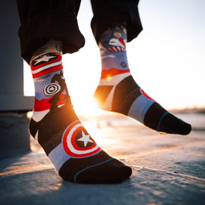 Stance Socks CAPTAIN AMERICA MARQUEE Off White