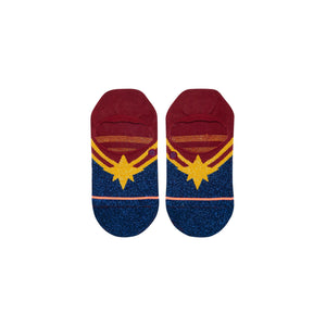 Stance Socks CAPTAIN MARVEL INVISIBLE Red