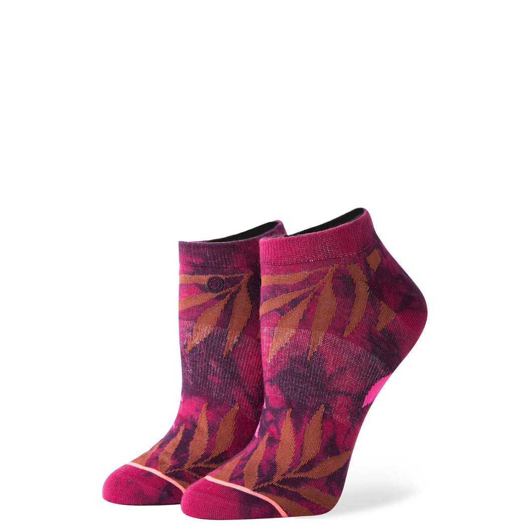 Stance Socks Acid Jungle Maroon