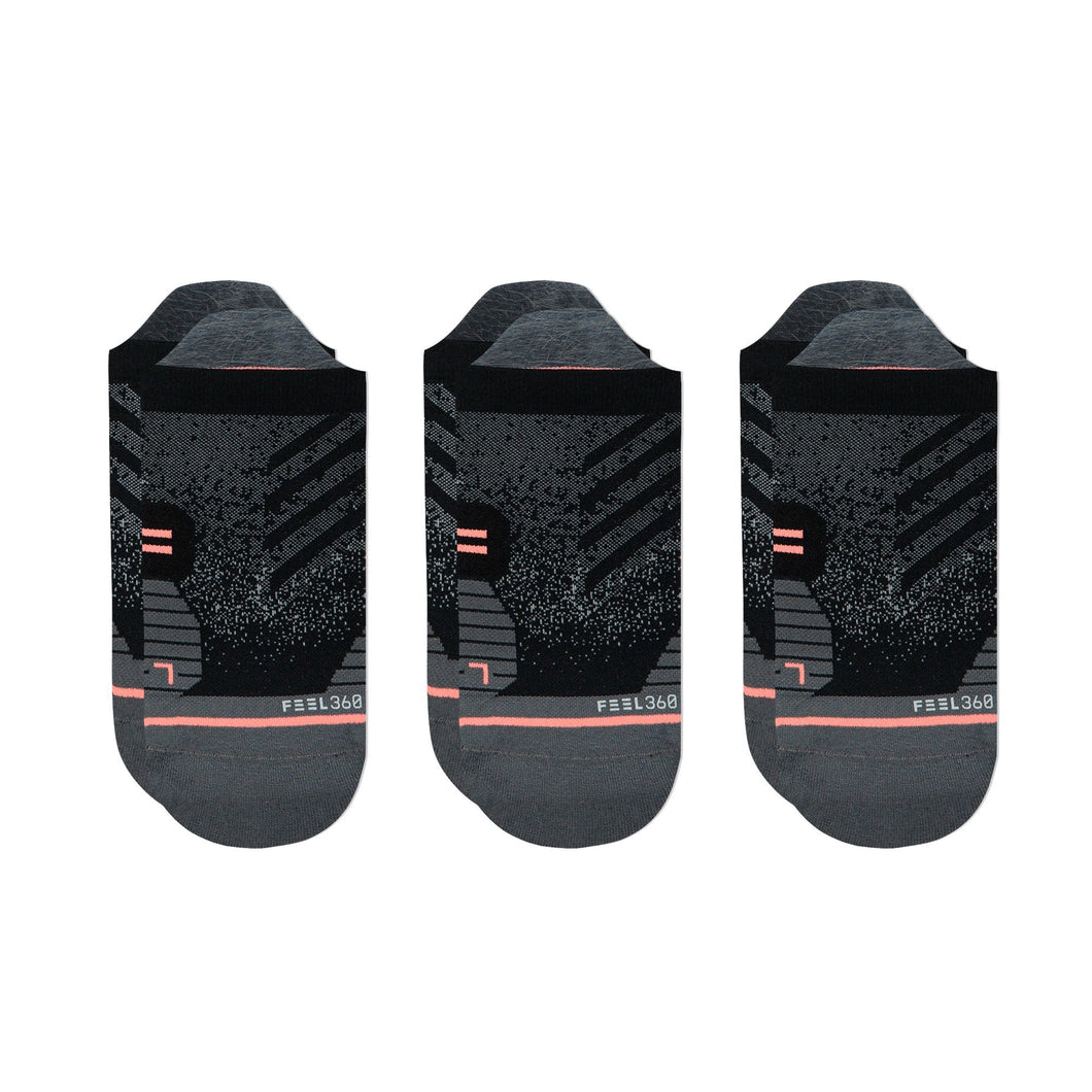 Stance Running Socks Womens Tab 3 Pack Black