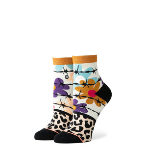 Stance Socks Flower Power Lowrider Off white