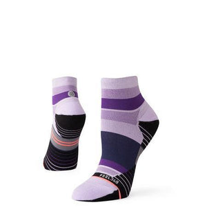 Stance Socks Negative Split Quarter Lavender
