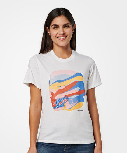 Stance T-Shirts JENNY SHARAF TEE WOMENS White