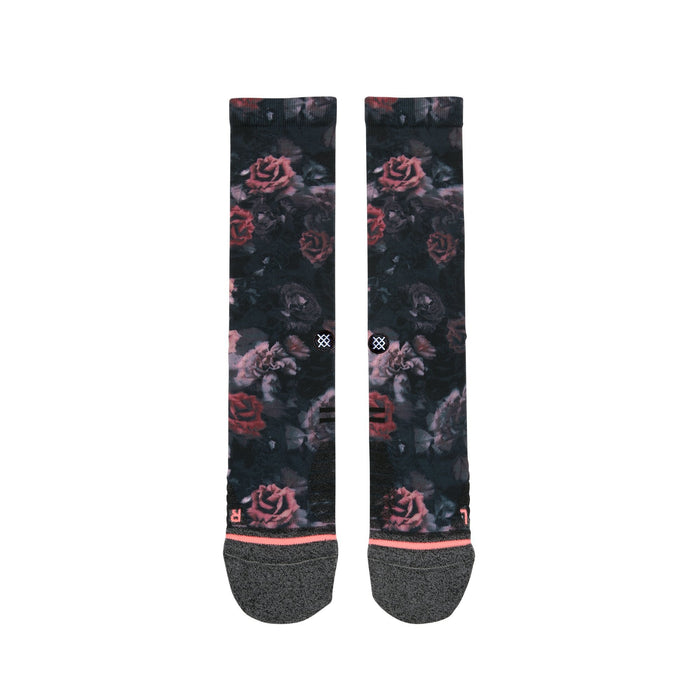 Stance Socks Smell The Roses Black