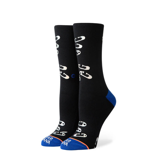 Stance Socks SAFETY PINNED Black