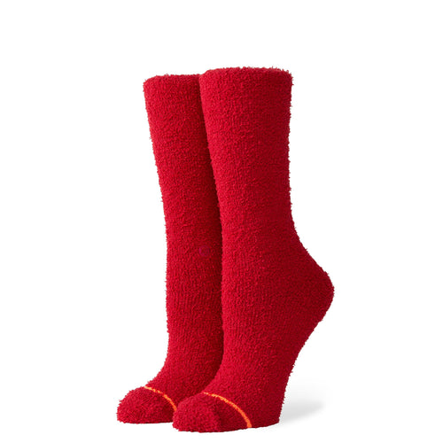Stance Socks Cuddle Cozy Crew Red