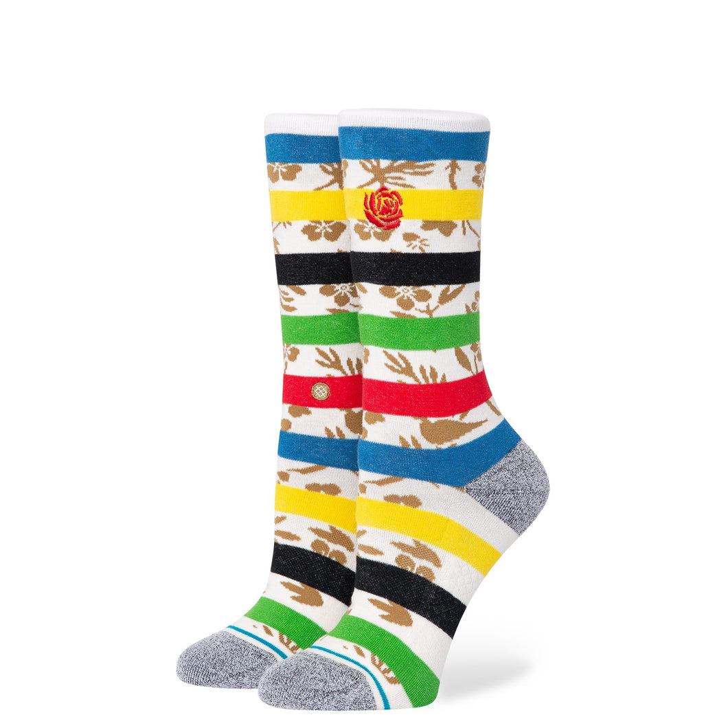 Stance Socks PETAL POWER CREW White