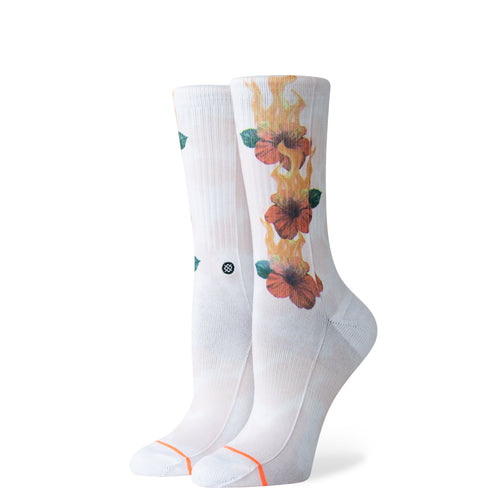 Stance Socks LET IT BURN White