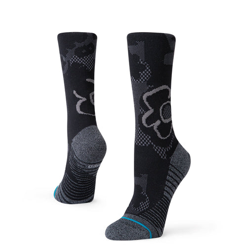 Stance Socks Black On Black Crew Black