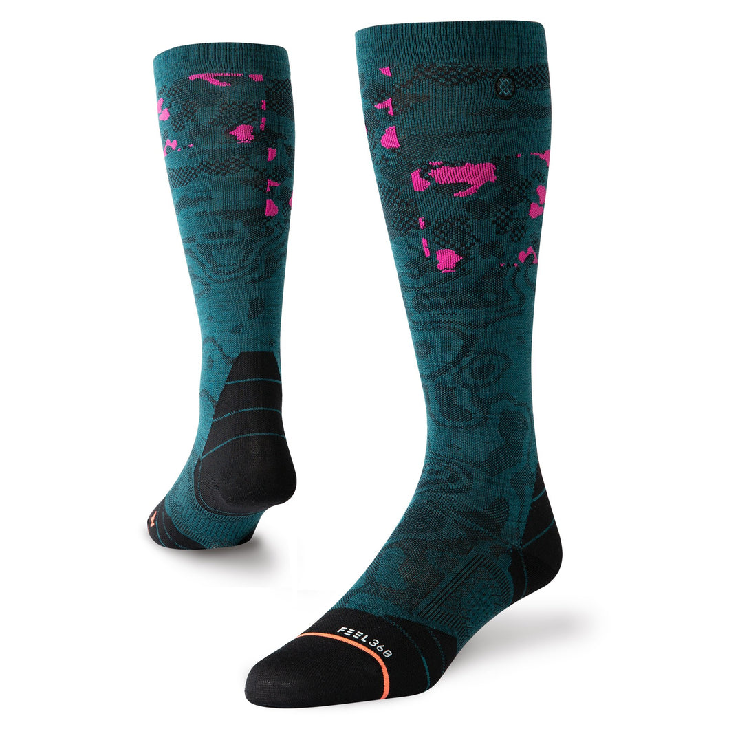Stance Socks Snow Heat Map Green