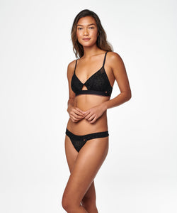 Stance Intimates Wide Side Thong Sheer Black