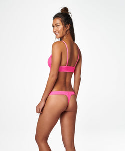 Stance Intimates Wide Side Thong Sheer Pink