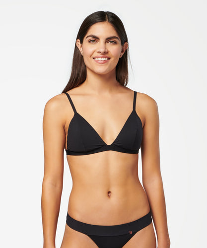 Stance Intimates Triangle Bralette Nylon Black