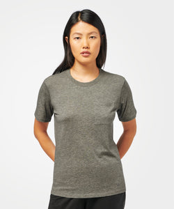 Stance T-Shirts Shelter Pocket Womens Dark Grey Heather