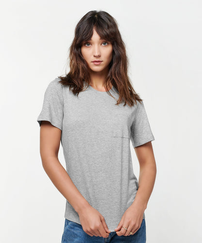 Stance T-shirts Shelter Pocket Womens Grey heather