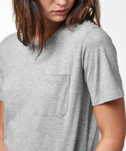 Stance T-Shirts SHELTER POCKET T-SHIRT WOMENS Grey Heather