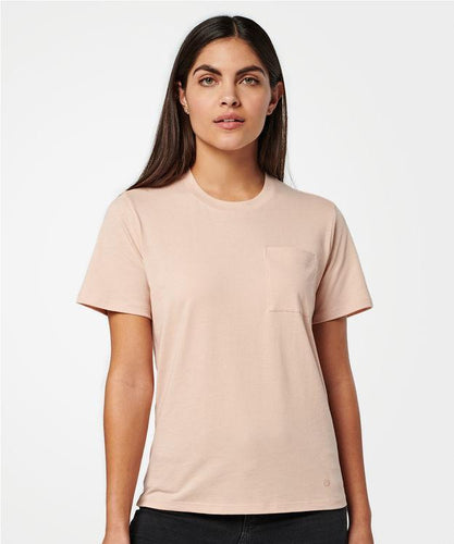 Stance T-shirts Shelter Pocket Womens Rose smoke