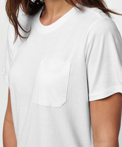 Stance T-shirt Women's Shelter Pocker White