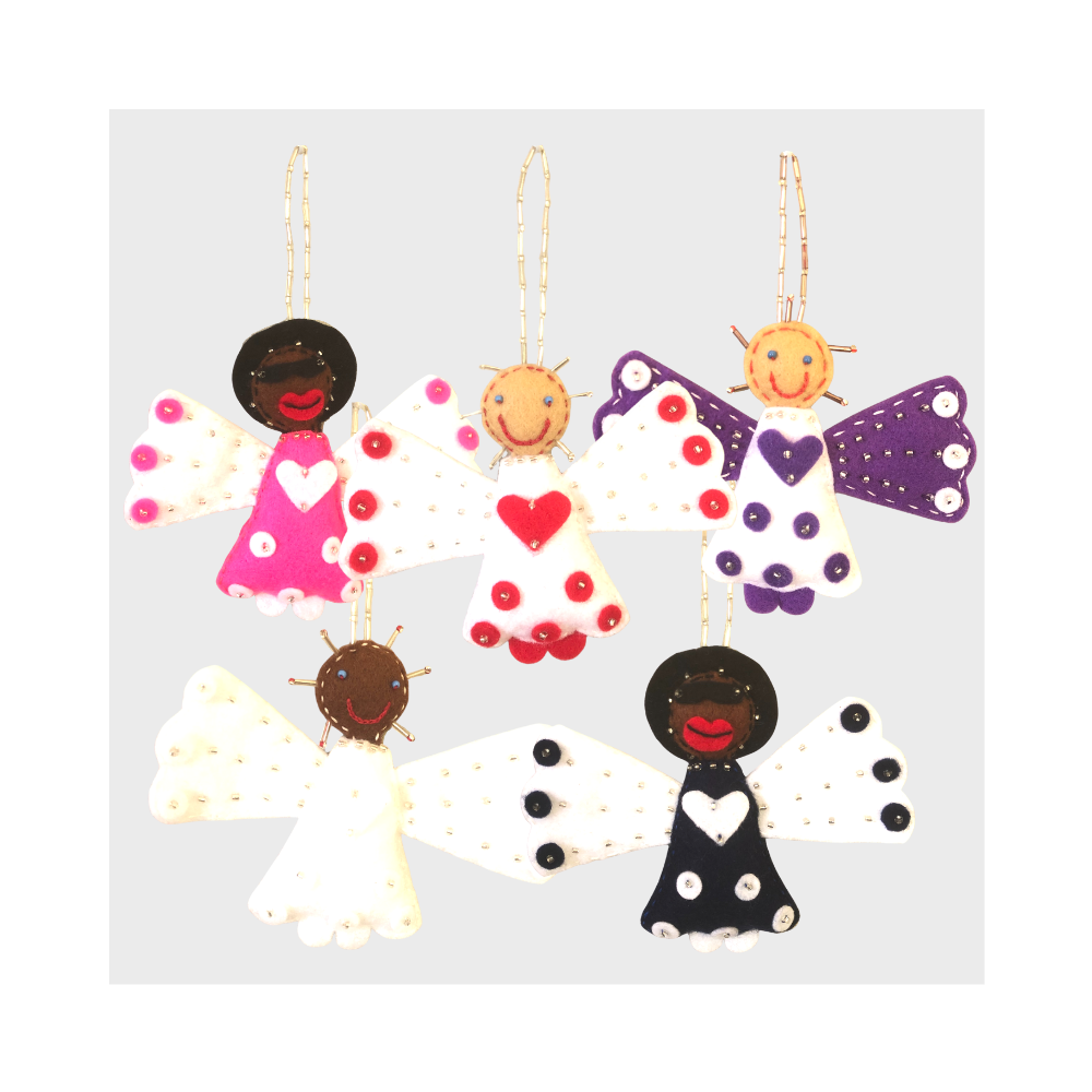Bright Angel Felt Decoration (5-pack)
