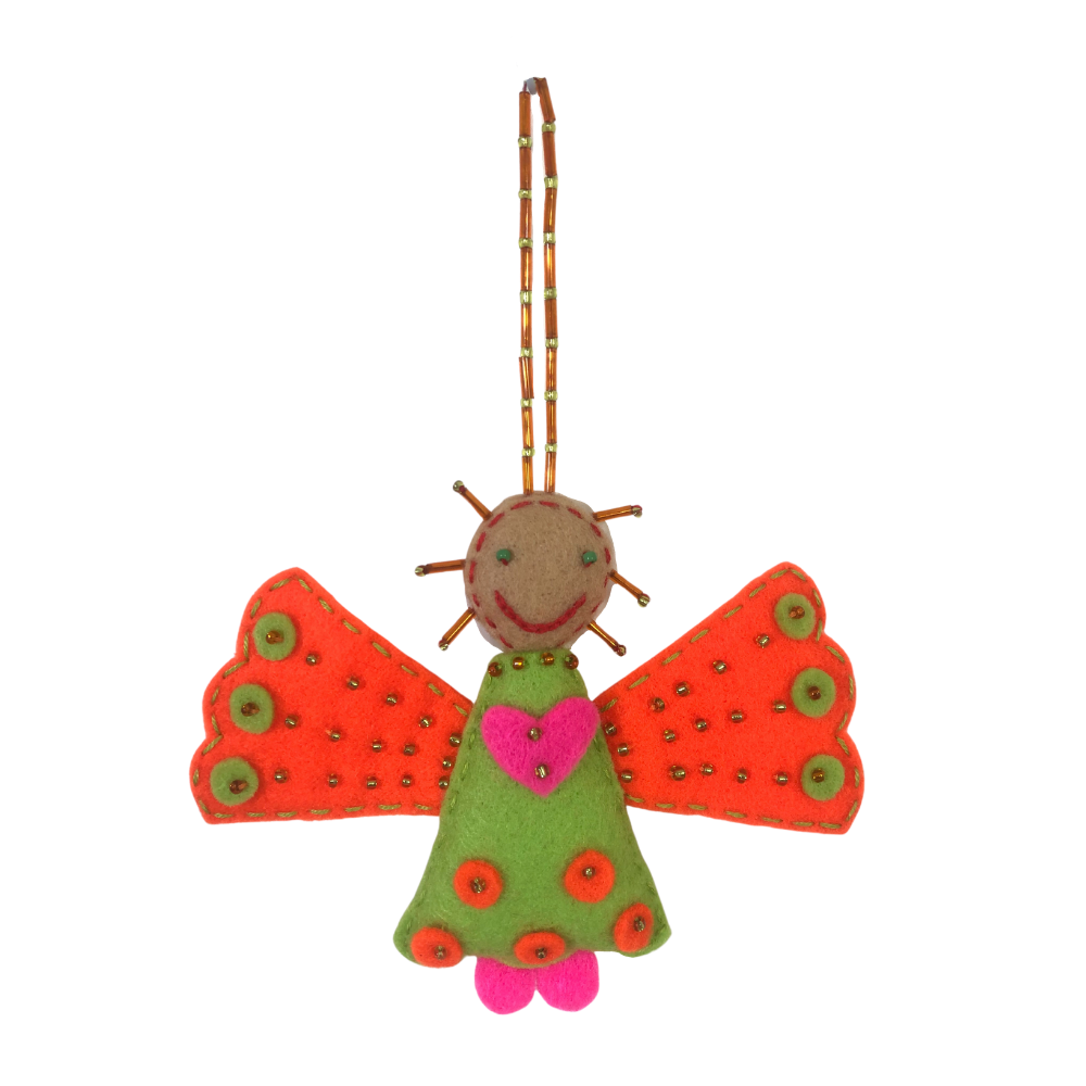 Colourful Angel Felt Decoration