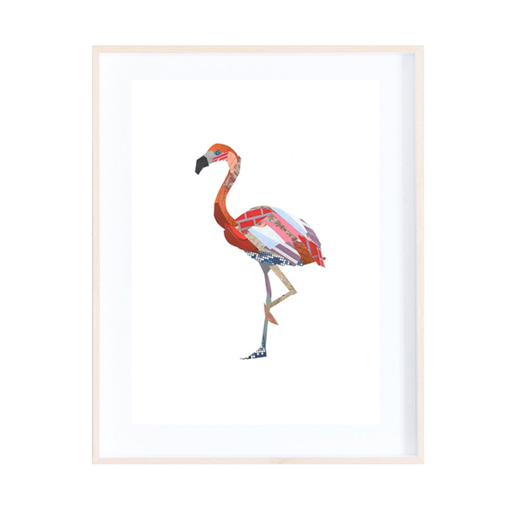 Flamingo Collage Print