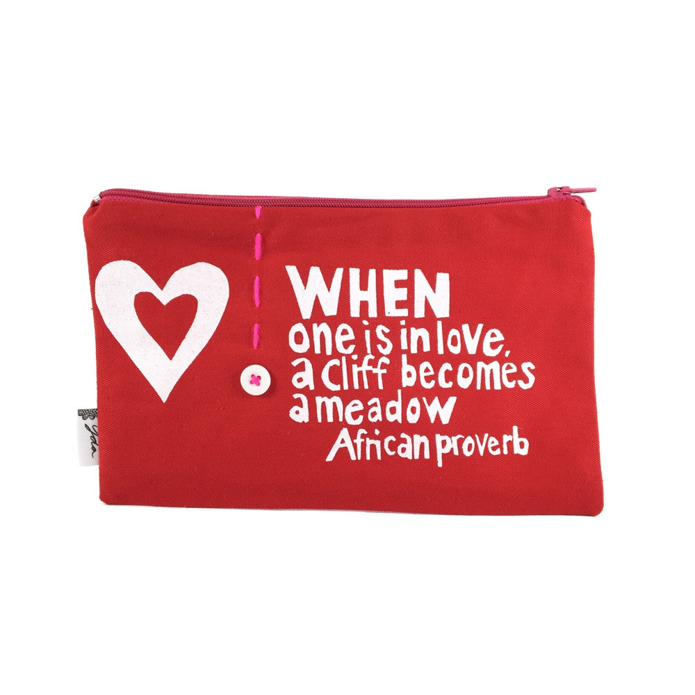 African Proverb Purse - Heart