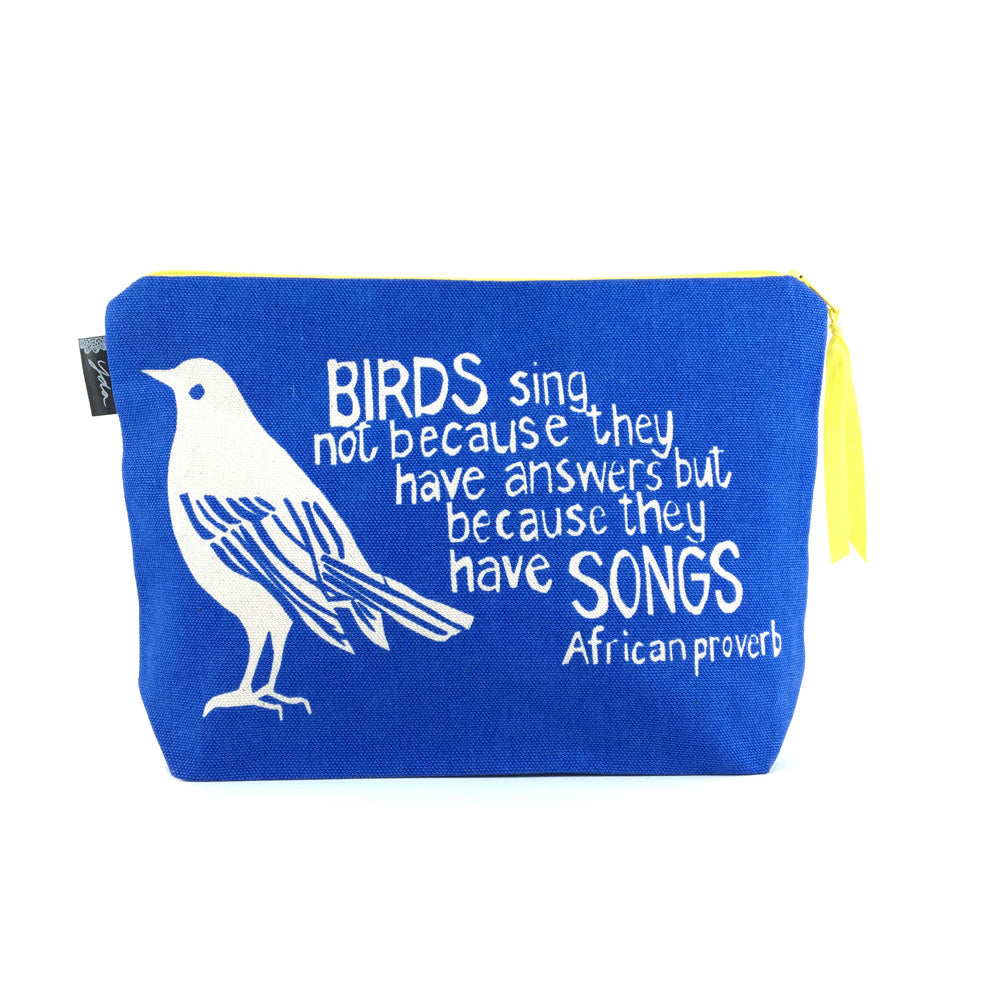 African Proverb Pouch - Bird Song