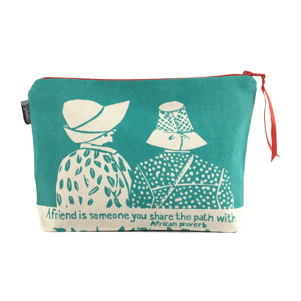 African Proverb Pouch - Friends