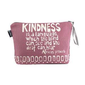 African Proverb Pouch - Kindness - Yda Walt