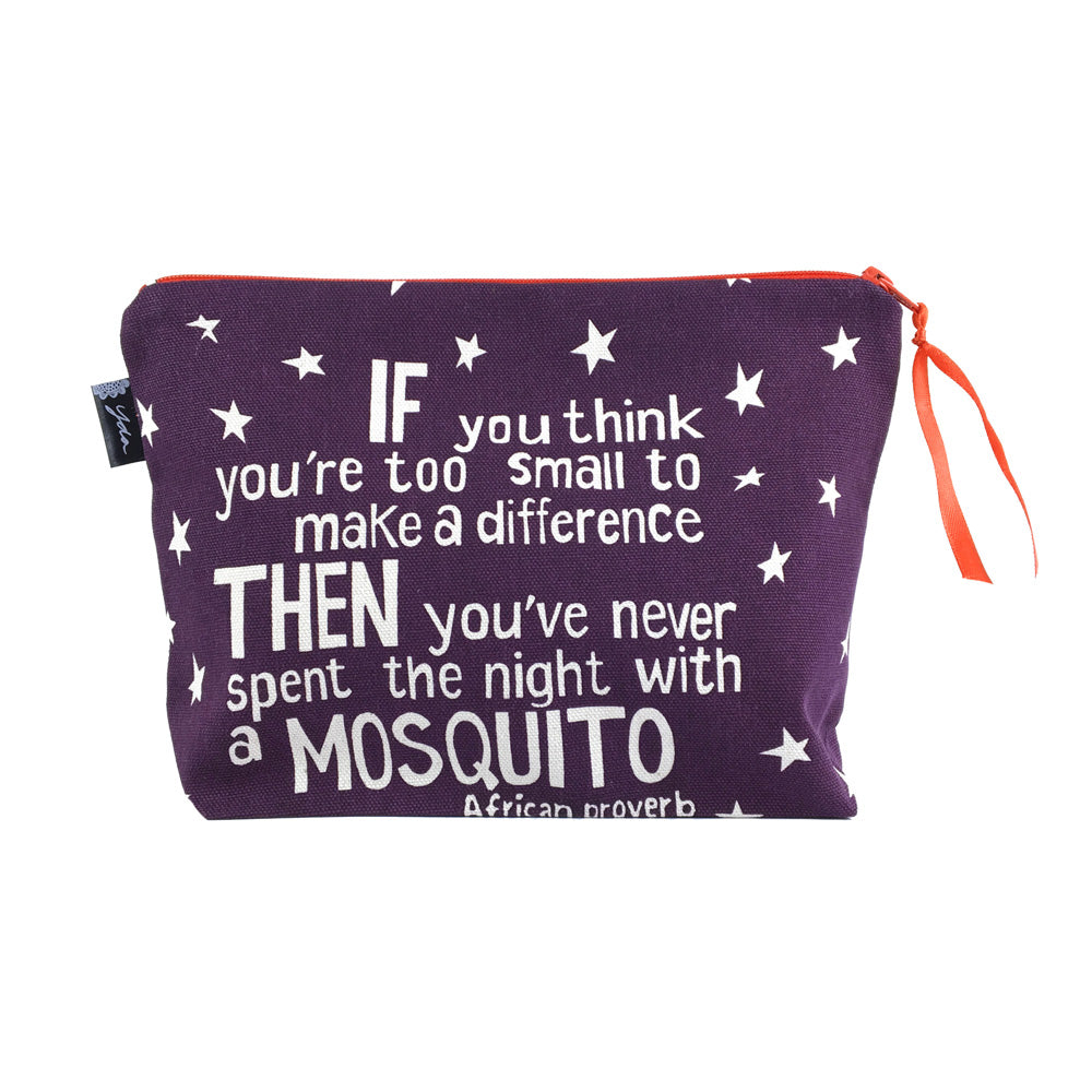 African Proverb Pouch - Mosquito