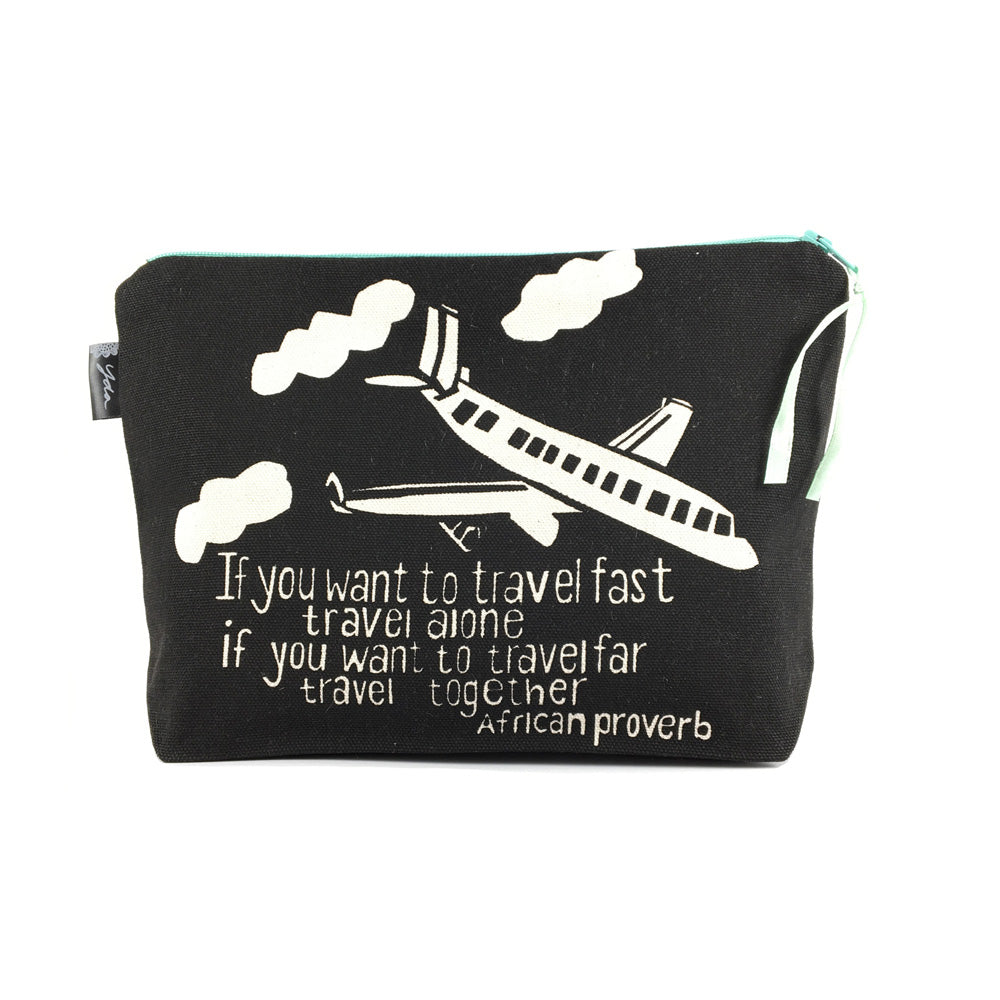 African Proverb Pouch - Travel