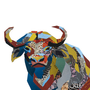 Buffalo Collage Print by Zoe Mafham
