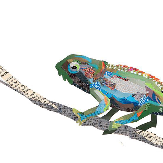Chameleon Collage by Zoe Mafham