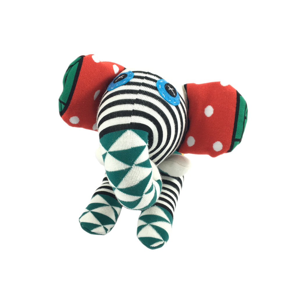 African Sock Animal Cuddle Toy - Elephant