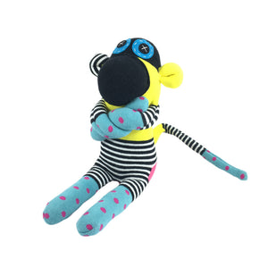 African Sock Animal Cuddle Toy - Monkey