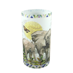 Elephant Herd Candle Shade - Sharon B Design