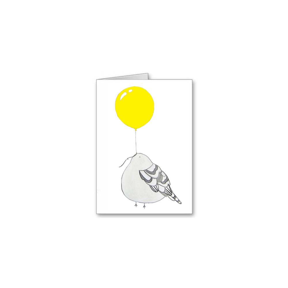 Bird and Balloon Greeting Card