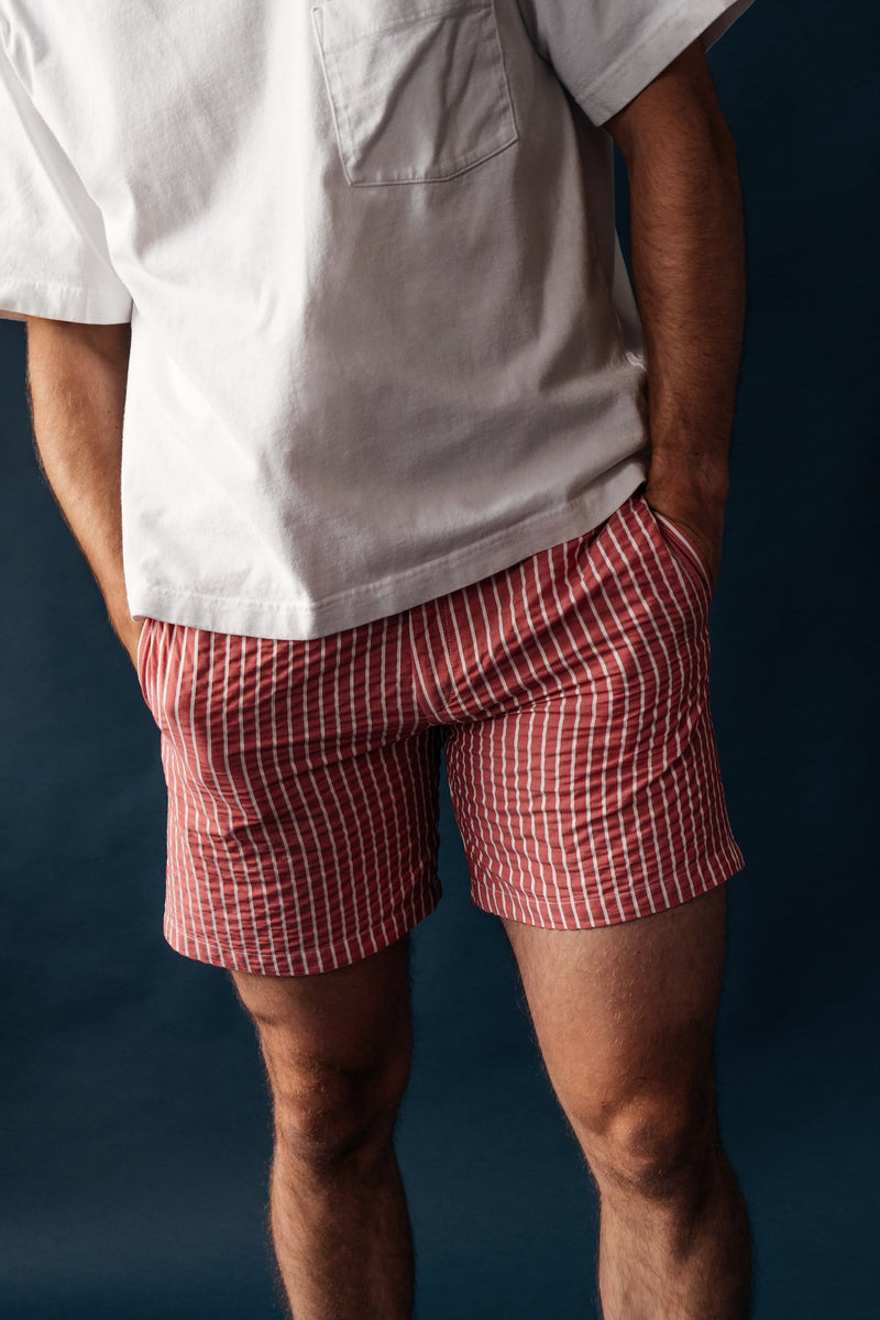 Tailored Originals Swim Shorts - Persian Red - Morville