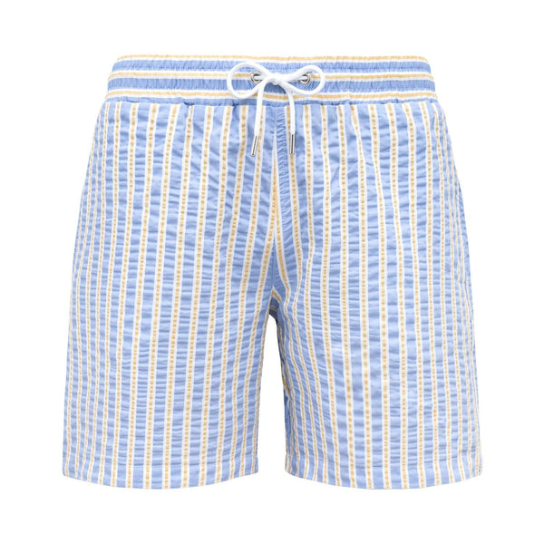 Classic Originals Swim Shorts - Sky Blue & Yellow - Morville