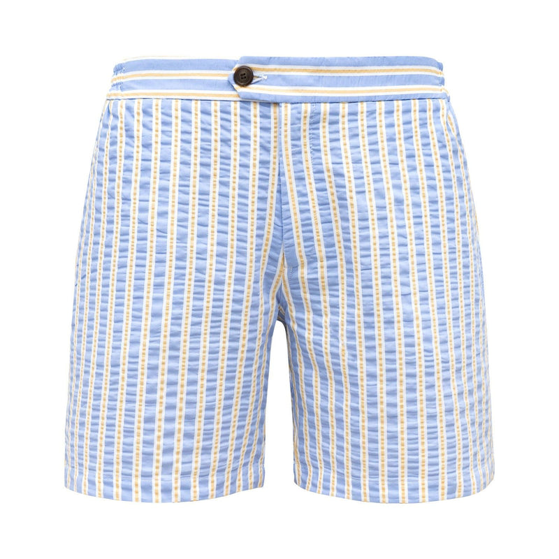 Tailored Originals Swim Shorts - Sky Blue & Yellow - Morville