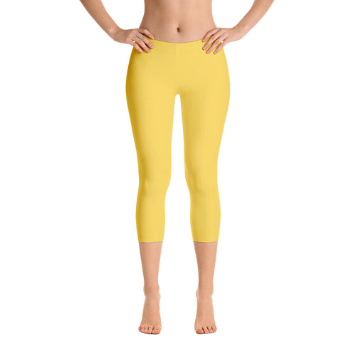 Essential Yellow Capri Leggings