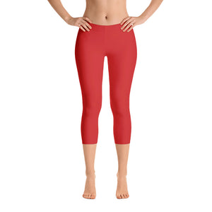 Essential Red Capri Leggings