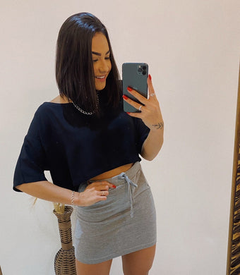 Cropped Larguinho Viscose