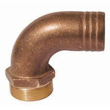 Right angle Bronze Hose connector