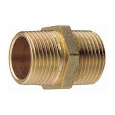 Brass Hex Nipple BSP thread