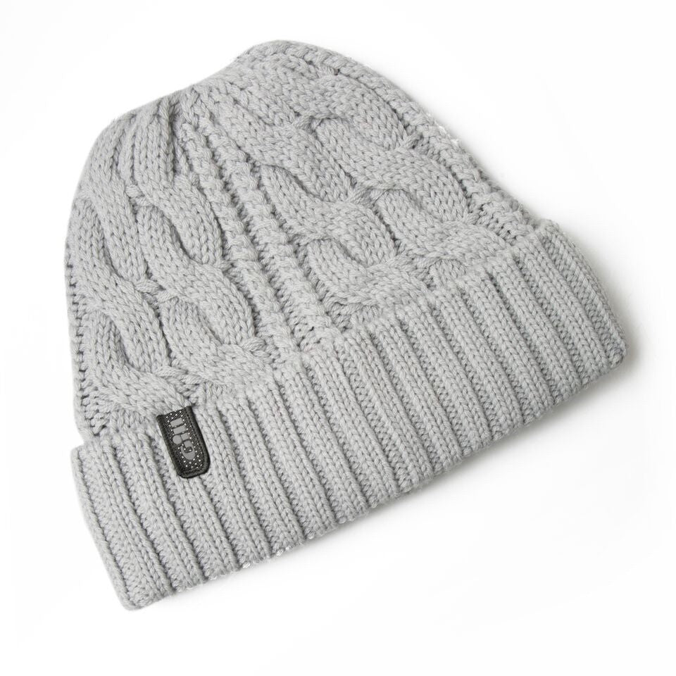 Gill Cable Knit Beanie Grey