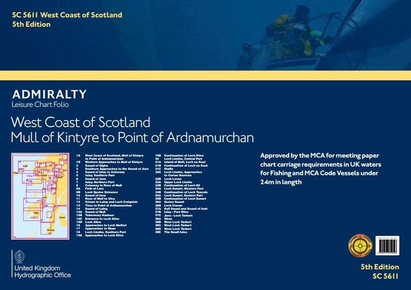 Admiralty SC5611 West Coast of Scotland - Mull of Kintyre to Point of Ardnamurchan Folio
