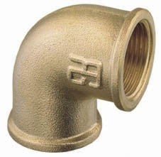 Brass elbow 90° BSP Female-Female thread