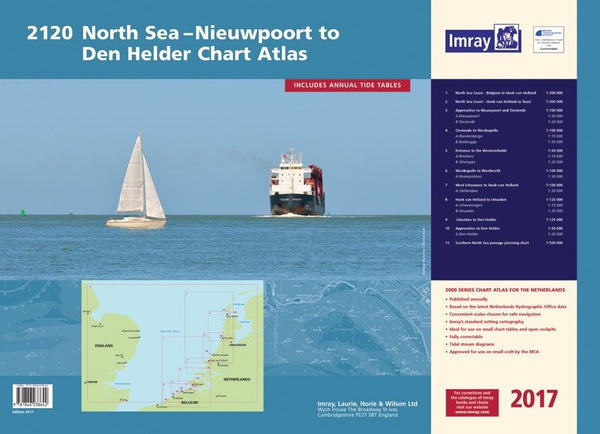 2120 North Sea - Nieuwpoort to Den Helder Chart Atlas 2017