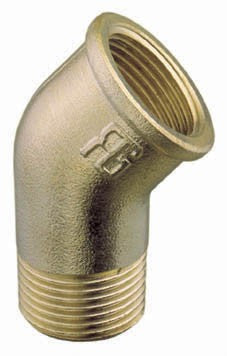 Brass elbow 45° BSP Male-Female thread